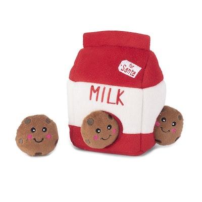 Zippy Paws Christmas Holiday Burrow - Santa's Milk and Cookies