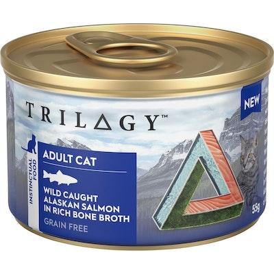 Trilogy Adult Wild Caught Salmon In Bone Broth Wet Cat Food 55G
