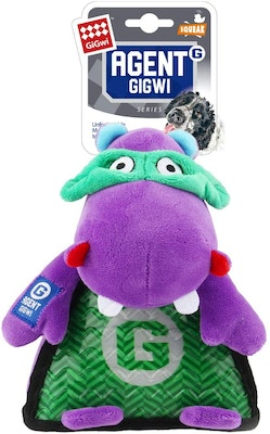 GIGWI Agent Elephant Durable Indoor Play Dog Squeaker Toy