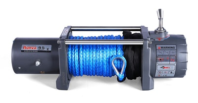 EWX9500 12V with Synthetic Rope
