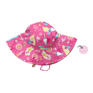 i play. Mix & Match Reversible Brim Sun Protection Hat-Hot Pink Cabana