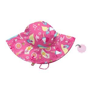 i play. Mix & Match Reversible Brim Sun Protection Hat-Hot Pink Cabana