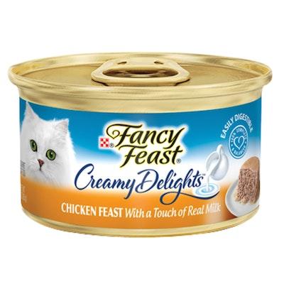 Fancy Feast Creamy Delights Wet Cat Food Chicken Feast w/ Real Milk 24 x 85g