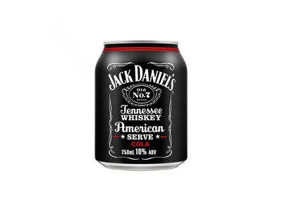 Jack Daniel's & Cola American Serve Can 250mL
