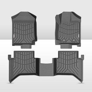 KIWI MASTER 3D TPE Floor Mats Liner Fit Mazda BT50  BT-50  Dual Cab MY2012-2020