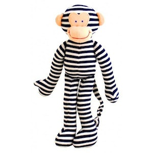Alimrose Monkey Rattle Navy