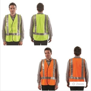 Pro Choice Safety Gear Fluro H Back Safety Vest - Day/Night Use