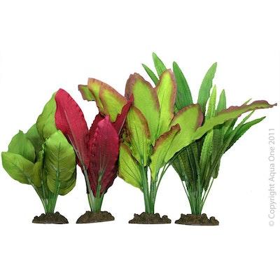 Aqua One Silk Plant 4pk Mix 2
