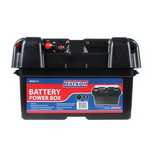 Matson Power Battery Box AGM Deep Cycle Dual System 12V Isolator USB