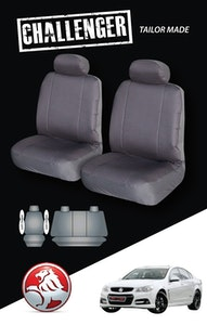 Canvas Seat Covers For Holden Commodore 08/2006-05/2013 Sedan Grey