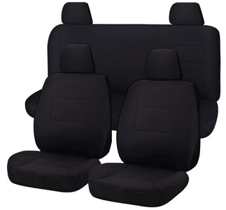 All Terrain Car Seat Covers For Nissan Navara D23 Series 3-4 Np300 Dual Cab 2015-2020   Black