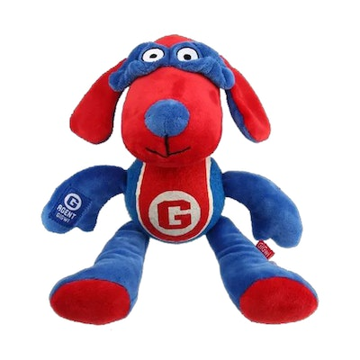 GIGWI Agent Dog Durable Indoor Play Dog Squeaker Toy