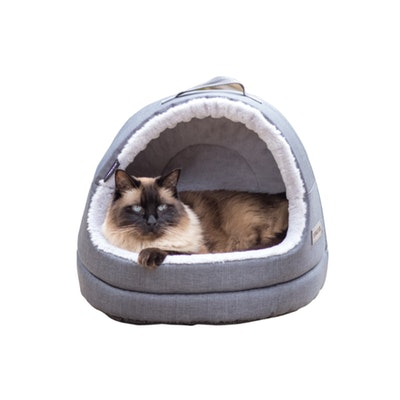 La Doggie Vita NEW!! Water Resistant Oxford Charcoal Hooded Cat House