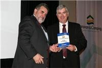 Alan Evans from NRMA with Tony Mayne from Trial Bay Eco Tourist Park