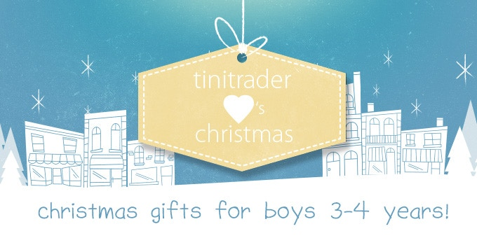 Christmas Gift Ideas for Boys 3-4 years!