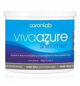 Caronlab Viva Azure Shimmer Hard Hot Wax Waxing Microwaveable 400g Waxing Hair