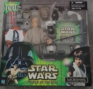 """Star Wars Power of the Jedi Luke Skywalker 12"""" Figure"""