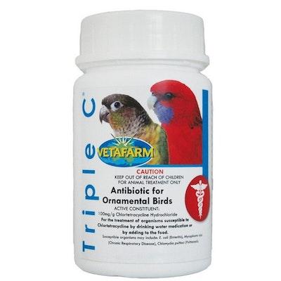 Vetafarm Triple C Broad Spectrum Antibiotic for Ornamental Birds - 3 Sizes