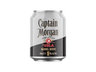 Captain Morgan & Cola Barrel Serve 9% Can 250mL