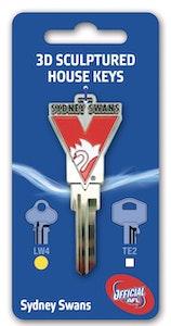 Creative Keys Sydney Swans House Key Blank