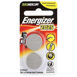 Energizer Batteries Coin Cell Remote Control Replacement Battery Twin Pack 3v Lithium Batteries CR2025
