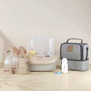 Eonian Care Newborn Baby Value Kit (Double Breast Pump, Steriliser & Dryer & Bottle Warmer, Nail Trimmer )