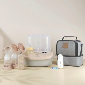 Eonian Care Newborn Baby Value Kit (Double Breast Pump, Steriliser & Dryer & Bottle Warmer, Nail Trimmer )