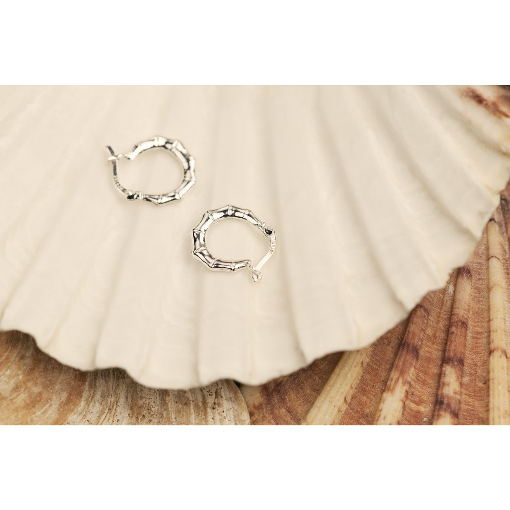 Jessica Alice Jewellery Sterling Silver Bamboo Hoops
