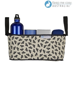 Keep Me Cosy™ Pram Organiser or Cup & Phone Holder - Navy Boat
