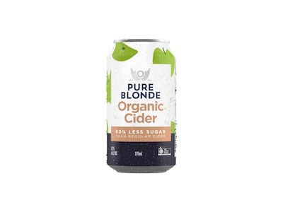 Pure Blonde Organic Apple Cider Can 375mL