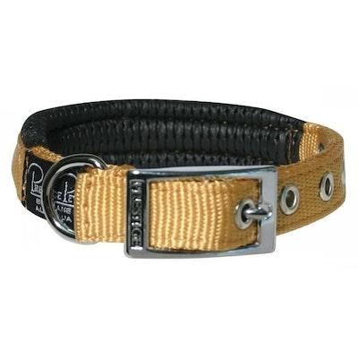 Prestige Pet Products Prestige Pet Soft Padded Adjustable Dog Collar Gold 3/4 Inch - 4 Sizes