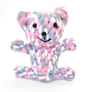 """Queenie's Pawprints Eco-friendly Cotton Rope Toy """"Bear"""""""