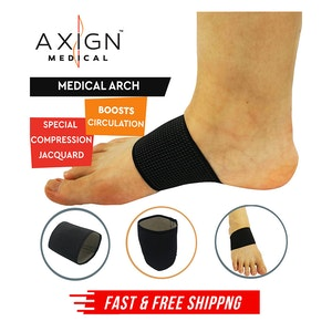1 Pair AXIGN Medical Arch Compression Foot Band - Black