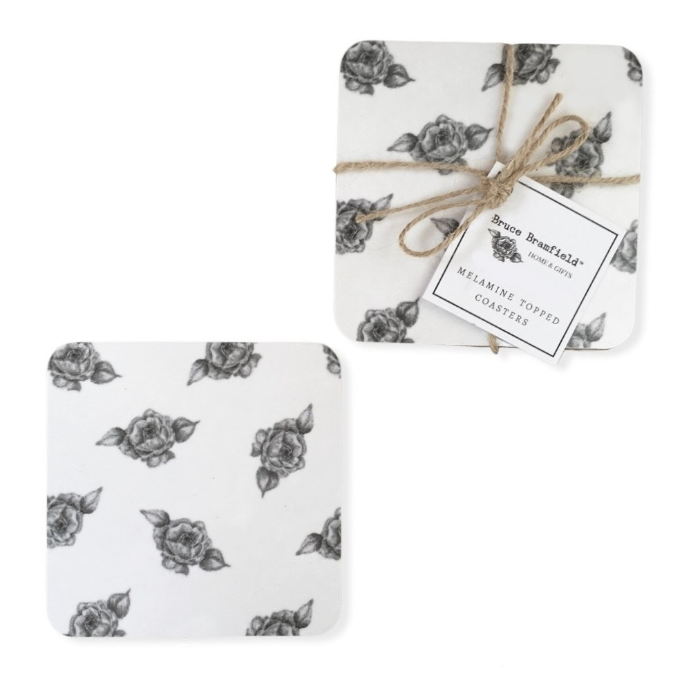Bruce Bramfield Roses Set Of Two Coasters