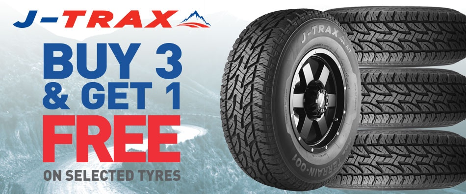 J-Trax Buy 3 get 1 Free Promotion