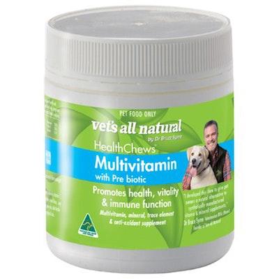 Vets All Natural Health Chews Multivitamins w/ Prebiotic Dog 270g