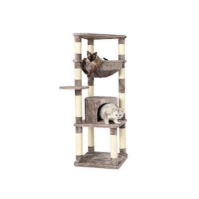 Honeypot CAT® Chipboard Flannel Cat Tree 145cm