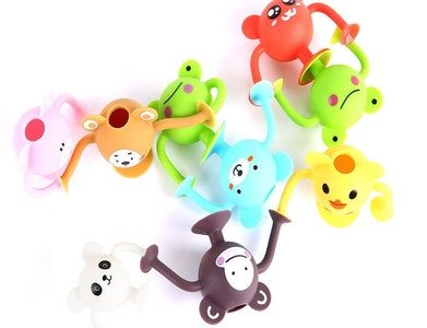 Silicone Suction Toddler Bath Toys 12pk - Entire Zoo Collection