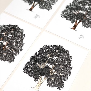A5 'Tree of Life' Limited Edition Print with Hand-Applied Gold-Leaf Metals.