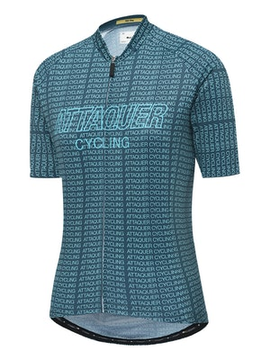 Attaquer Womens All Day Typo Jersey Grit Green