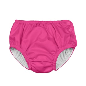 i play. Snap Reusable Absorbent Swimsuit Diaper-Hot Pink