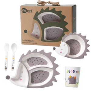 Lily Pad + Little Mr - Bamboo Fibre Childrens Dinnerware Set (Little Hedgy Hedgehog)