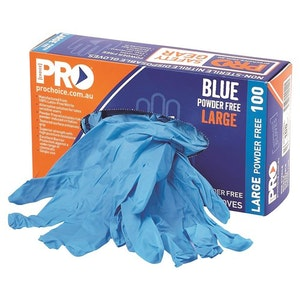 Pro Choice Safety Gear 10 x Box of 100 Nitrile Disposable Gloves