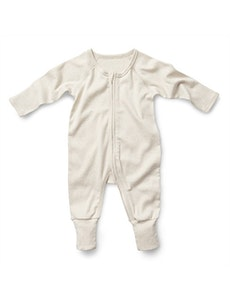 On Chic Baby Clothes Fibre for Good Organic Cotton Romper - White