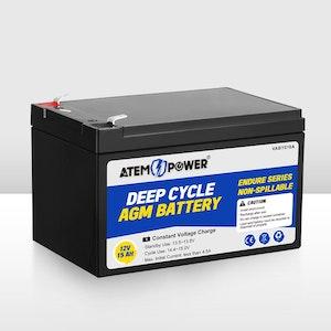 15AH 12V AGM Battery Deep Cycle Camping Marine Solar SLA Lead Acid 4WD