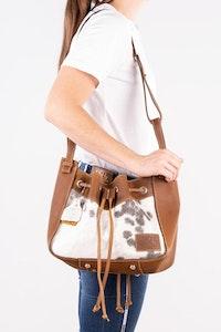 Hitchley & Harrow Hide-on Bucket Handbag BKT812
