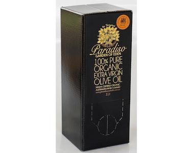 Paradiso Cert Org Extra Virgin Olive Oil 1Lt Cask