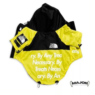MAJOR Dog Clothing Yellow and Black Waterproof Windbreaker 💛