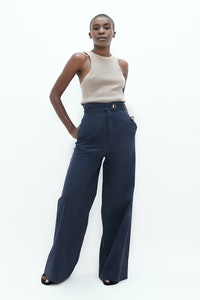 1 People Florence Organic Cotton Twill Pants in Summer Night Blue