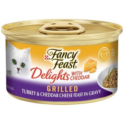 Fancy Feast Delights With Cheddar Grilled Turkey & Cheddar Cheese Wet Cat Food 85G